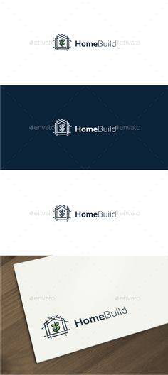 Home Building  Construction Logo — Vector EPS #residential #design • Available here → https://graphicriver.net/item/home-building-construction-logo/17968562?ref=pxcr
