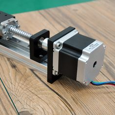 Threaded rod linear guide rail with motor and ball screw for cnc ball screw linear module for printer parts robotic arm kit - STORECHARGER Arduino Cnc, Cnc Router, Plasma Cnc, Cnc Parts, Linear Actuator, Maker Shop, 3d Printer Parts, Diy Cnc, Robot Arm