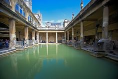 Roman baths, City of Bath, via the Guardian Travel Sights, Places To Travel, Places To Go, Around The World In 80 Days, Around The Worlds, England Countryside, Bath Uk, Roman Britain, Historical Architecture