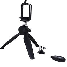 Yunteng YT228 Mini Tripod With Phone Holder Black and Orange For iPhone 66S and Digital Camera Gopro -- Continue to the product at the image link.