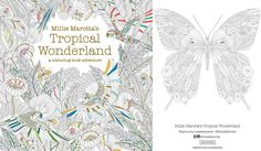 It seems we just can't get enough of adult colouring! Get your fix with this butterfly pattern free download from Millie Marotta's Tropical Wonderland