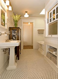 110 spectacular farmhouse bathroom decor ideas (48) #vintagebathrooms
