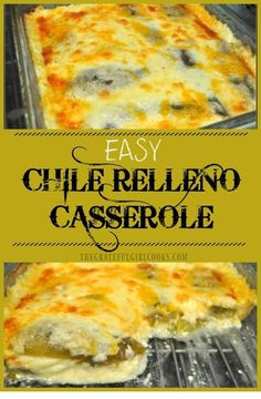 This scrumptious chile relleno casserole is easy to make, is vegetarian, and has all the Southwest flavors of the traditional dish, but it is is baked, not fried! ~~ CLICK PIN TO READ MORE ~~| Casserole | Casserole Recipes | Casserole Recipes For Dinner | Casserole Recipes Healty | Casserole Dishes | Casserole Recipes Easy | Casserole Recipes Casserole | Popular Casserole Recipes | Chicken Casserole | Simple Casserole Recipes | Cowboy Casserole | Taco Casserole | #wandabaker