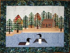 Paper Piecing Pattern For Loon View Large Image Loon