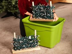 10 Easy Holiday Storage Tips: Build stands to store holiday lights