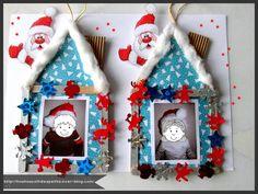 Home Christmas Photo Frame Christmas Tree - Christmas for kids - Noel Kids Christmas Ornaments, Christmas Activities, Christmas Crafts For Kids, Christmas Photos, Christmas Art, Simple Christmas, Christmas Tree Decorations, Crafts For Kids To Make, Diy And Crafts