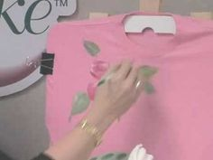 Donna Dewberry show you how to decorate and embellish a t-shirt #PlaidCrafts #crafts