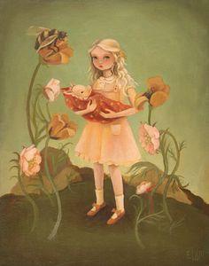 Alice and the Piglet Print 8x10 por theblackapple en Etsy, $16.00
