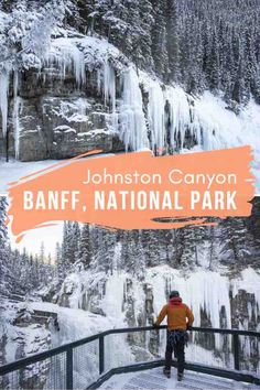 One of Banff's quintessential summer hikes is even better in winter! At Johnston Canyon, you'll walk along an icy canyon filled with frozen waterfalls. It's even better at night when you can stargaze at the same time! #Banff #BanffCanada #BanffNationalPark #BanffCanadaWinter #BanffThingsToDo #NationalParksCanada #CanadaTravel #CanadaWinter #JohnstonCanyon #RockiesCanada Travel Hacks, Travel Guides, Travel Tips, Banff National Park, National Parks, Johnston Canyon Banff, Canada Destinations, Perfect Road Trip, Canadian Travel