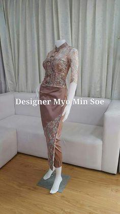 Traditional Fashion, Traditional Dresses, Cambodian Wedding, Myanmar Dress Design, Myanmar Traditional Dress, Batik Fashion, Thai Dress, Prom Dresses, Formal Dresses