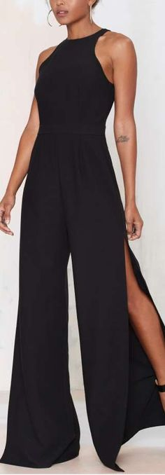 slit leg jumpsuit