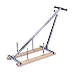 Work sled for testing, evaluating and conditioning individuals in work hardening and industrial rehab programs. Designed to simulate everyday work motions. Work Hardening, Sled, Chrome Plating, Canning, Weights, Activities, Calves, Catalog, Design