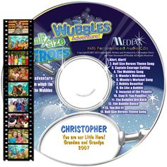 A DVD adventure with lively music, dynamic sound effects and impeccable animation that encourages creativity and light-hearted fun. The child's name is used 52 times.