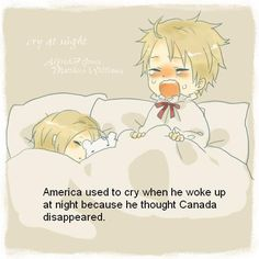 Hetalia ~~ Sleepy North American brothers... minus Mexico. Poor kid who is ALWAYS left out of these fanarts.