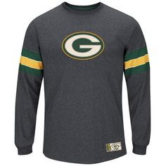 Majestic Green Bay Packers Team Spotlight III Long Sleeve T-Shirt – Charcoal