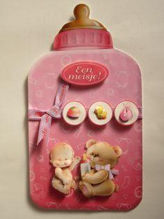 3D card baby feeding bottle