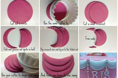 STEP BY STEP tutorial - easy quick layered swags fondant Fondant Tips, Fondant Icing, Fondant Tutorial, Fondant Toppers, Fondant Cakes, Cupcake Cakes, Fondant Ruffles, Fondant Recipes, Ruffle Cake