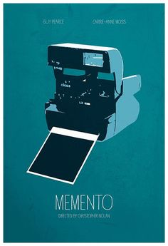 #Memento #minimal #minimalist #movie #film #poster #alternative #graphic #illustration