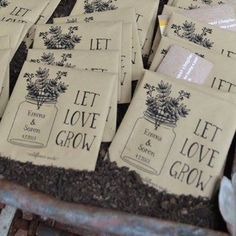 Affordable Seed Packet Wedding Favors Your Guest Will Love