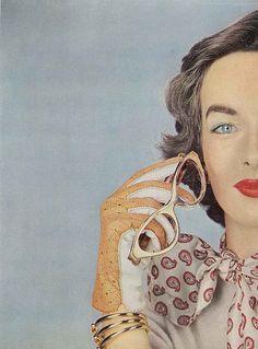 Victoria Von Hagen, October Vogue 1952 by Erwin Blumenfeld