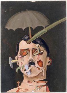 Hitler. Brauner Victor (1903-1966), 1934. Droits d'auteur : (C) ADAGP Crédit photographique : (C) Centre Pompidou...