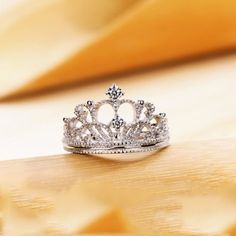 For the princess in your life!cute for a daughter. Elegant NSCD Diamond Decorated Crown Women's Ring