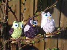 sweet crocheted owl tutorial free pattern (scroll down for English)
