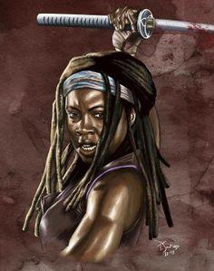The Walking Dead Artwork. Michonne