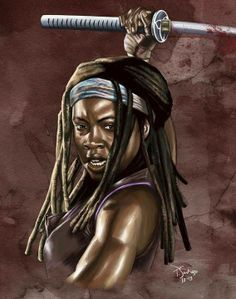 The Walking Dead Artwork. Michonne
