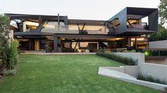 Vert modern house. Beautiful
