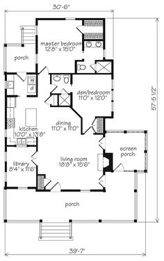 Looking for the best house plans? Check out the Banning Court plan from Southern Living. Small House Floor Plans, Best House Plans, Dream House Plans, My Dream Home, Southern Living House Plans, Cottage House Plans, Country House Plans, Small Cottage Plans, Cottage Ideas