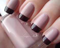 French Nail Art designs are minimal yet stylish Nail designs for short as well as long Nails. Here are the best french manicure ideas, which are gorgeous. Pink French Manicure, French Nail Art, French Tip Nails, Reverse French Nails, Fall Manicure, Manicure And Pedicure, Manicure Ideas, Fall Nails, Short Nails