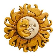 Sun and Moon Wall plaque: