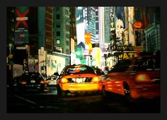 new york city by davidwangpen on DeviantArt New York Taxi, New York City, Worlds Largest, Times Square, Deviantart, David, Travel, Voyage, New York
