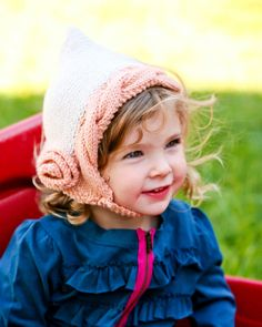 Flower+Cabled+Pixie+Bonnet++Knitting+PATTERN++pdf+by+lillebarn,+$4.25