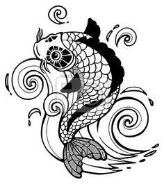 Cuadro /Póster koi fish - tatuaje - koi - ola • PIXERS.es