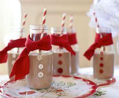 Chocolate Milk Snowmen - Easy and cute!
