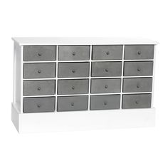 Love the white/gray. For kiddie room? From Hübsch home interior and design.