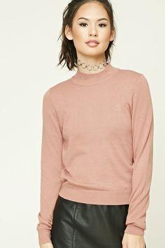 FOREVER 21+ Mock Neck Sweater