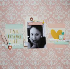 I am loving Life! - I AM GOLD kit by @cliquekits Kits, featuring @simplestories