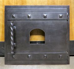 Custom Square Hinged Pizza Oven Door by Old West Iron