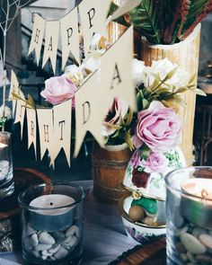 Rustic oriental bamboo table decoration • Divine project bali