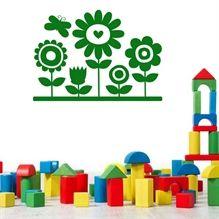 Wallsticker Blomster til børneværelset