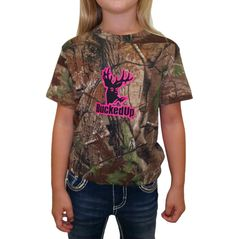 Youth Short Sleeve Realtree APG Camo with Pink Logo: Hunting Apparel | Hunting Clothes | Shirts | Stickers | Decals
