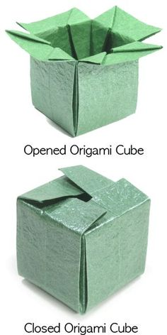 How to make a closable origami cube (http://www.origami-make.org/origami-cube-closable.php)