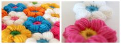 puff stitch bloemetje - puff stitch flower - Bees and Appletrees (BLOG)