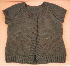 Tricô Sem Costura : Colete em tricô: de cima para baixo (técnica top down)