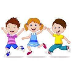 Happy children cartoon running vector Children Cartoon, Happy Children, Vector Free, Preschool, Projects To Try, Royalty, Bunny, Family Guy, Kindergarten