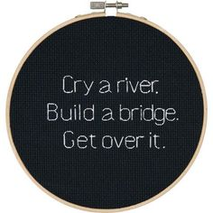 Dimensions® Cry a River Counted Cross-Stitch Kit - Herrschners Cross Stitching, Cross Stitch Embroidery, Embroidery Patterns, Hand Embroidery, Cross Stitch Designs, Cross Stitch Patterns, Diy Broderie, Cross Stitch Quotes, Counted Cross Stitch Kits