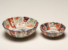 Imari Porcelain Bowls...(I own one just like the larger one)